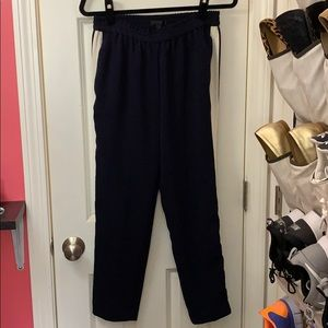 J. Crew Navy blue elastic waistband ankle pants